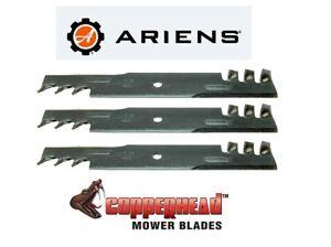 3 USA BLADES Mulching Fits Ariens Ikon Mower 52 XD with 52 inch Deck