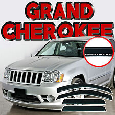 Jeep Grand Cherokee WK 2005-2010 Window Deflectors Visors with Logo - Vent Guard