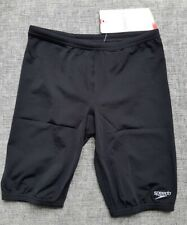 SPEEDO Endurance Junior Boys Basic Jammer Size 10 Black BRAND NEW tags