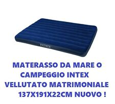 MATERASSINO TELATO MATERASSO CAMPEGGIO BOX DOPPIO MATRIMONIALE BLU 137X191CM