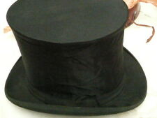 Antique 1890 French collapsible top hat in assorted box Circa  1900s.