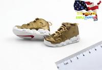 """1/6 scale men Golden AJ sneaker for 12"""" figure hot toys phicen Ganghood ❶USA❶"""