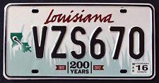 LOUISIANA WILDLIFE PELICAN 200 YEARS BICENTENNIAL 2016 LA Graphic License Plate