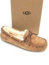 Ugg Australia Dakota Castanha Pele De Carneiro Mocassim Chinelo 5612 sapatos femininos