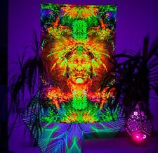 Psychedelic wall tapestry, DMT Backdrop, Meditation Wall Art, UV Wall Art