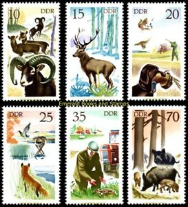 EBS East Germany DDR 1977 Hunting - Jagdwesen Michel 2270-2275 MNH**