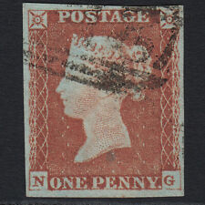 I12 GB QV 1841 1d RED-BROWN PLATE 72 SG8-B1(1) NG FU 4 MARGINS