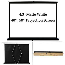 """40' 50"""" 4:3 Projector Screen Business Meeting Home Theater Hd 1080P 3D Movie Us"""