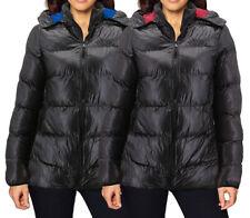 Женская приталенная легкая на молнии изолированные Упаковываемые пуховик куртка с капюшоном