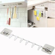 6 Hooks Under Shelf Mug Cup Hanger Storage Rack Kitchen Cupboard Stainless Steel