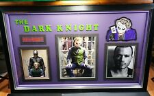 Heath Ledger Signed Autograph Christian Bale Framed Dark Knight Joker BAS PSA