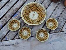 Vintage Planters Peanuts Mr. Peanut Metal Snack Set 5 Pc Metal Bowls