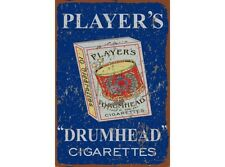 NEW Players Drum Head tin metal sign