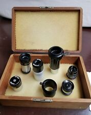 LOT OF  MEADE / ORION / OTHERS EYEPIECES TELESCOPE PARTS WITH BOX