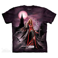 Anne Stokes/Mountain T Shirt of Blood Moon       Size Large