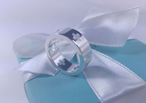 Tiffany & Co. Cutout Cross Band Ring Stencil size 10 Cut Out Sterling Silver 925