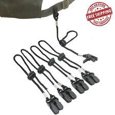 5 x ADJUSTABLE Cap Eyewear Retainer Hat Leash Clip Holder Black Nylon Cord Strap