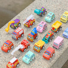 PACK OF SIX KIDS ENGINEERING VEHICLE FORKLIFT TRUCK PULL BACK TOY MODEL CARS SET