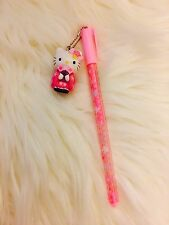 Hello Kitty Sakura Kimono Charm Gel Pen Trinket Keychain Kawaii Stationery