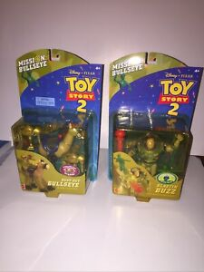 Toy Story 2 Mission Bullseye Blasting Buzz And Bust-out Bullseye Figures