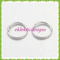 6mm 200pcs Silver Plated Jump Rings Jewelry Findings Open Split Earring Necklace
