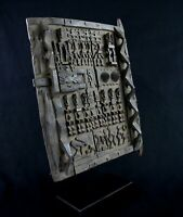 Art African tribal - Superb Porte Of Attic Dogon On Base - 52,5 x 41 CMS