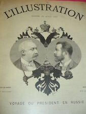 L'ILLUSTRATION  1897 VOYAGE DU PRÉSIDENT EN RUSSIE