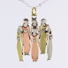 Six Sisters or Friends Necklace Mother + 5 Daughters Pendant 6 Sisters Necklace