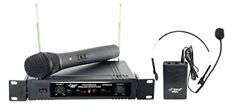 Pyle Pdwm2700 Pro Dual 2 Channel Vhf Wireless Microphone System 1 Mic&1 Headset