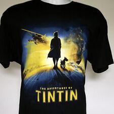 Mens The Adventures of TinTin Snowy T Shirt large 100% cotton World Adventurer