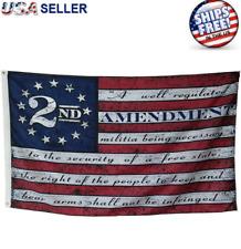 3x5FT 2nd Amendment Flag American USA 13 Star NRA Banner Gun Rights Patriot Ross