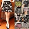 Summer Fashion Mini Print Pleated High Waist Skirts Short Women Skirt