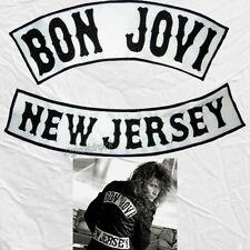 Jon Bon Jovi Embroidered Replica Big Patches New Jersey Jacket Sambora Richie