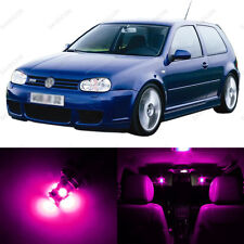 11 x Pink/Purple LED Interior Light Package For 1999 - 2005 VW Golf GTi R32 Mk4