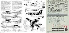 ALMARK DECALS 1/72 A-7E Corsair F-14A Tomcat VA-22 VF-114 Aardvarks (USN)