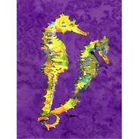 Carolines Treasures 8661CHF Seahorse Canvas Flag - House Size 28 x 40 in.