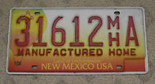 NEW MEXICO BALLOON BASE MANUFACTURED HOME LICENSE PLATE 31612 MH A