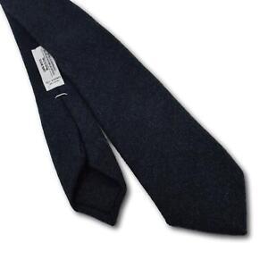 """Brooklyn Tailors Skinny Herringbone Wool Tie 2.75"""" Width USA Made"""