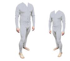 Long John Western Unterwäsche grau Einteiler Baumwolle Gr. XL  Cowboy Unterhose