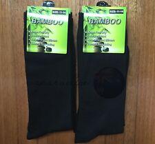12 Pairs SIZE 11-14 95% BAMBOO SOCKS Men's Premium Work/School Socks Black
