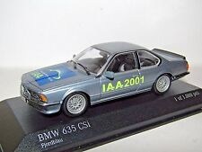 MINICHAMPS BMW 635 CSI METALLIC BLUE IAA 2001 1/43