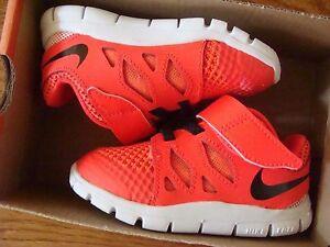 Baby Nike Free 5 (TDV) 644429 601Bright Crimson Black-Hot Lava Size 4C~9C