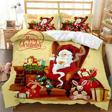 Leisurely Santa Claus 3D Blockout Photo Print Curtain Fabric Curtains Window