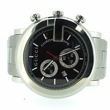 gucci 11912656. gucci chronoscope black dial stainless steel chronograph sport watch 44mm 11912656