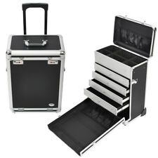 AW® Aluminum Rolling Makeup Case Artist Travel Jewelry Drawers Code Lock Storage