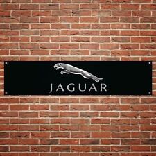 Jaguar Banner Garage Workshop PVC Sign Trackside Car Display Black