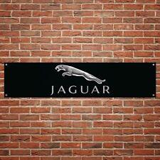 Jaguar Banner Garage Workshop PVC Sign Trackside Car Display Black