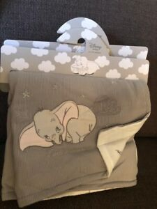 Disney Baby Dumbo Grey Baby Blanket Brand New Primark
