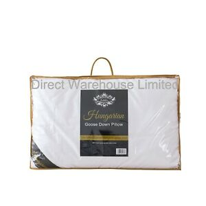 100% Pure Hungarian Goose Down Pillow Luxury Hotel Quality - 1000g Fill