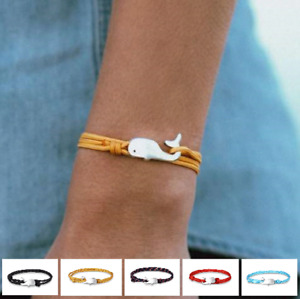 Bracelet Surfer Whale Parachute Sea Ocean Anchor Dolphin Made of Stainless Steel